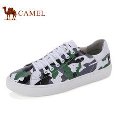 Camel/骆驼男鞋夏季潮流时尚迷彩水染牛皮板鞋男休闲鞋男