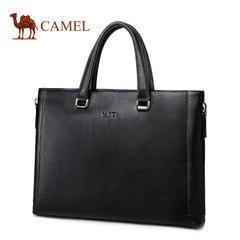 Camel骆驼男包男士牛皮手提包商务休闲单肩斜挎男公文包男版包包