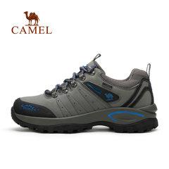 Camel駱駝戶外男鞋徒步鞋 防水防滑耐磨減震牛皮戶外登山鞋跑鞋男