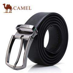 Camel骆驼腰带2017新款男士牛皮皮带商务休闲针扣男裤带青年腰带