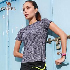 【2017新品】骆驼运动女款T恤圆领T恤短袖速干休闲T恤跑步健身女