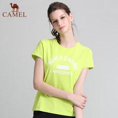 【2017新品】骆驼运动女款圆领T恤运动跑步健身T恤舒适休闲女T恤