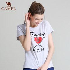【2017新品】骆驼运动春夏女款圆领T恤短袖运动T恤休闲舒适女