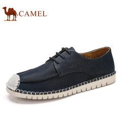Camel/骆驼男鞋2017夏季新品日常休闲潮流拼接牛皮低帮鞋舒适男鞋