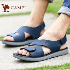 Camel/yabo sports app男鞋夏季凉鞋沙滩鞋子男士透气露趾凉鞋男