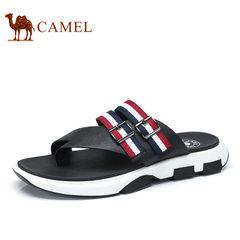 Camel/骆驼男鞋2017夏季新品时尚休闲百搭拖鞋透气沙滩休闲拖鞋男
