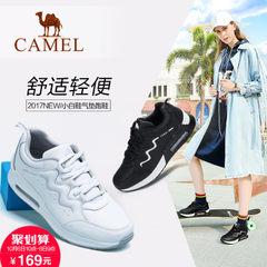 2017新品 骆驼运动鞋女轻便跑步鞋休闲增高跑鞋秋季女鞋小白鞋