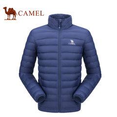camel骆驼轻薄羽绒服男女2017秋季新款修身短款情侣冬装保暖外套