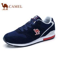 Camel/骆驼男鞋2017秋季新品运动鞋网布拼接跑步鞋时尚舒适休闲鞋