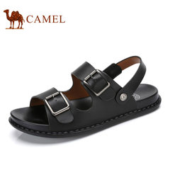 Camel/骆驼男鞋夏季清爽透气针扣凉拖两用户外露趾凉鞋男
