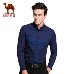 骆驼男装衬衣 秋季男士长袖韩版修身商务休闲衬衫男衬衫