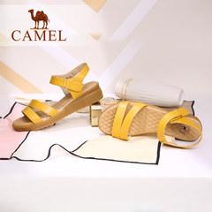 骆驼女鞋 休闲舒适小坡跟凉鞋气质通勤防滑鞋