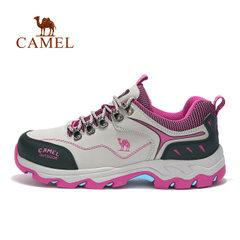 CAMEL/駱駝戶外女款徒步鞋 防滑護踝平穩低幫系帶女款徒步鞋