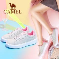Camel骆驼2017秋季新款 韩版百搭低帮鞋板鞋女 时尚小白鞋