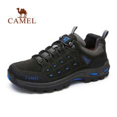 Camel骆驼户外运动鞋跑鞋男士系带休闲鞋真皮防滑登山鞋徒步鞋
