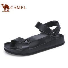 Camel/骆驼男鞋2017夏季新品日常休闲清爽透气魔术贴沙滩鞋凉鞋男