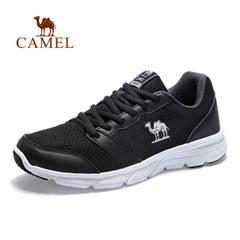 CAMEL駱駝戶外徒步鞋 男女網面透氣鞋輕便減震時尚休閑系帶低幫鞋