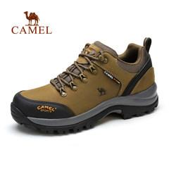 Camel/骆驼户外登山鞋男 真皮防滑休闲运动鞋防水耐磨牛皮徒步鞋