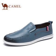 Camel/骆驼乐福鞋真皮男士休闲皮鞋软底休闲鞋夏季牛皮鞋子男