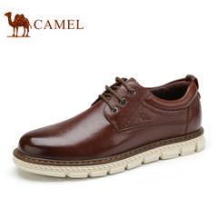 Camel/骆驼男鞋2017秋季新款休闲皮鞋真皮青年休闲鞋男舒适驾车鞋