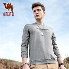 Camel/骆驼男装 2017新款套头直筒圆领男士卫衣时尚舒适男上衣