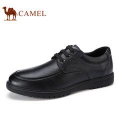 Camel/骆驼男鞋2017秋季新款低帮皮鞋商务休闲系带耐磨男士皮鞋子