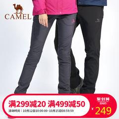 CAMEL/骆驼户外情侣软壳裤 防风加厚保暖登山裤徒步旅行男女长裤