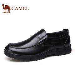 Camel/骆驼男鞋2017秋季新品商务休闲鞋牛皮舒适缓震套脚男士皮鞋