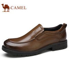 Camel/骆驼男鞋2017新品低帮鞋商务休闲舒适缓震套脚男士皮鞋