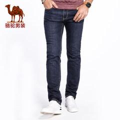 Camel/骆驼男装 2017新款商务休闲男士牛仔裤直筒水洗长裤裤子