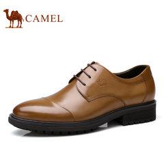 Camel/骆驼男鞋2017秋季新款低帮鞋真皮商务休闲皮鞋系带男士皮鞋