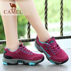 camel骆驼户外鞋女士运动鞋时尚休闲徒步鞋越野防水防滑登山鞋