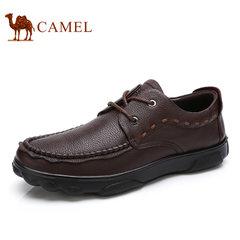 Camel/骆驼男鞋2017秋季新款商务休闲鞋真皮系带休闲鞋男士皮鞋子