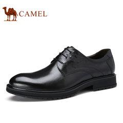 Camel/骆驼男鞋2017秋季新款低帮鞋商务正装压花牛皮舒适男士皮鞋
