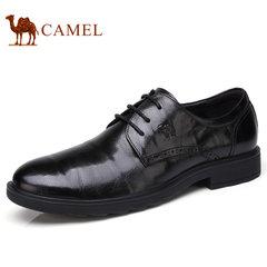Camel/骆驼男鞋2017秋季新品男商务正装鞋系带皮鞋抓纹牛皮鞋子