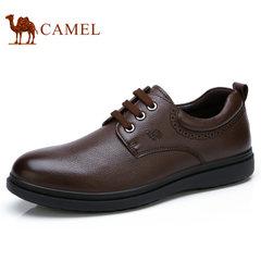Camel/骆驼男鞋2017秋季新款低帮鞋商务休闲鞋轻盈缓震防滑皮鞋