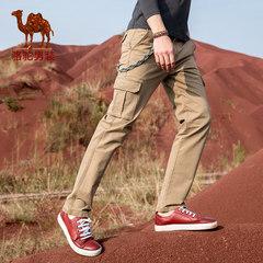 Camel/骆驼男装 2017秋季新款直筒宽松男士多袋工装休闲裤男长裤
