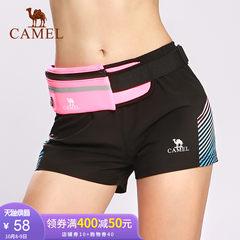 骆驼运动短裤 女款梭织短裤 韩版休闲舒适百搭健身跑步宽松运动裤