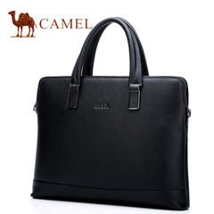 Camel骆驼男包2017新款男士牛皮通勤公文包商务单肩斜挎手提包男