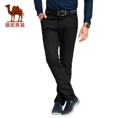 骆驼男装 秋冬中腰微弹舒适男士休闲裤修身基础款男长裤