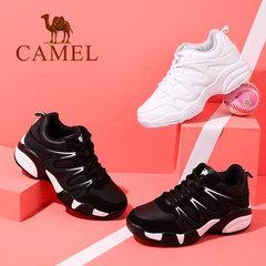 Camel/骆驼女鞋2017秋季新款时尚运动鞋防滑耐磨黑白男女款运动鞋