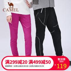 CAMEL/駱駝戶外情侶款抓絨褲 男女款防風抗靜電加厚保暖運動長褲