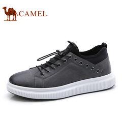 Camel/骆驼男鞋2017秋季新款时尚低帮休闲鞋男撞色滑板鞋休闲男鞋