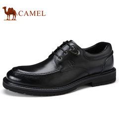 Camel/骆驼男鞋2017秋季新品低帮鞋商务正装真皮潮流系带男士皮鞋