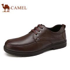 Camel/骆驼男鞋商务休闲皮鞋秋季舒适皮鞋耐磨爸爸鞋