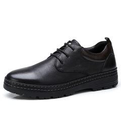 骆驼男鞋 秋季时尚低帮鞋日常休闲 牛皮系带舒适耐磨防滑皮鞋男士