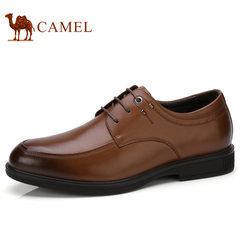 Camel/骆驼男鞋2017秋季新款商务正装皮鞋男真皮系带正装鞋德比鞋