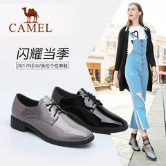Camel/骆驼女鞋 2017秋季新款时尚英伦个性圆头女单鞋休闲鞋女