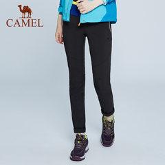 CAMEL骆驼户外休闲冲锋软壳裤 男女款防风保暖软壳裤运动登山长裤