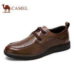 Camel/骆驼男鞋夏季日常休闲 镂空皮鞋 休闲透气皮鞋男 爸爸鞋
